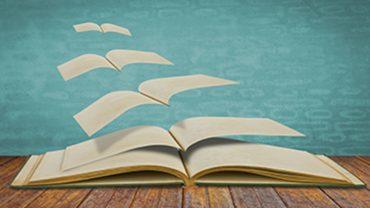 Open flying old books